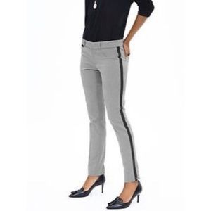"BANANA REPUBLIC Grey Black  ""Sloan"" Tuxedo Pants 6"
